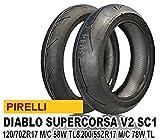 ピレリ(PIRELLI) バイクタイヤ 前後セット ディアブロ スーパーコルサ V2 SC1 120/70 ZR17 58W TL & 200/55 ZR17 78W TL 814753