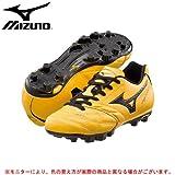 MIZUNO(ミズノ) スーパーソニック ウエーブ 3 Jr 12KP238 ジュニアサッカースパイク ポイントスパイク ((09)イエローxブラック, 21.0cm)