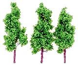 ポポンデッタ ポポプロ ジオラマコレクション 「memory's」 ジオラマ樹木 樹木 緑色 70mm 3本入り MT-002 ジオラマ用品