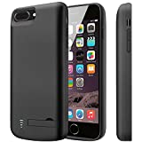 iPhone6Plus / 7Plus / 8Plus バッテリーケース 8000mAh バッテリー内蔵ケース 使用時間2倍ぐらい延長 大容量 急速充電(黒)  Cofuture