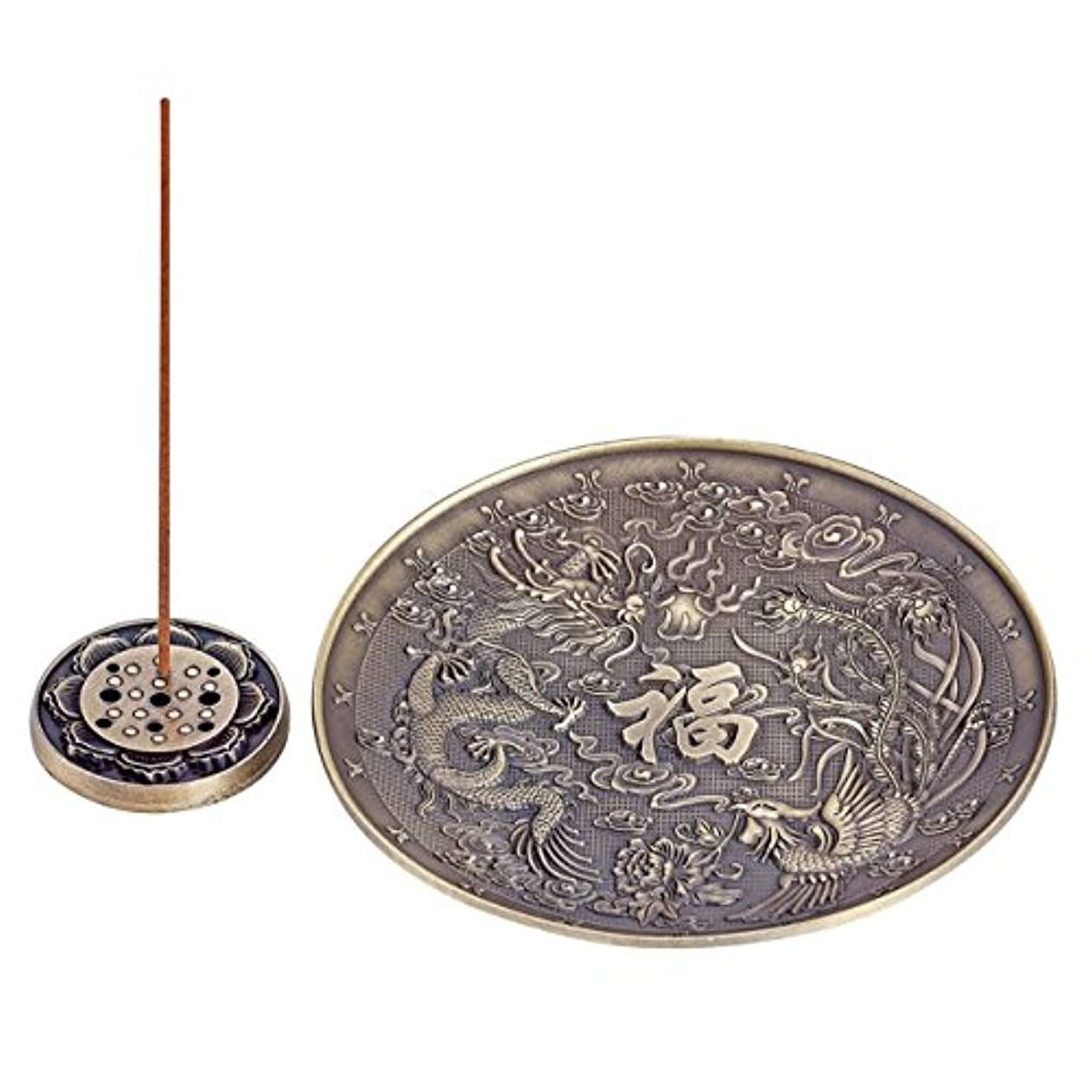 内訳人生を作る何Uoon Dragon Stick Incense Burnerホルダー、4異なるIncense Holder for Stick Incense、コイルIncense UOON-DRAGON088