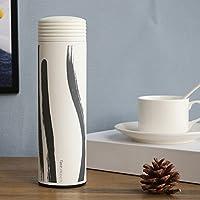 Super Kh® クリエイティブ絶縁カップ304ステンレス鋼450ミリメートル赤い竹/インクの竹/インク風/草と男性のファッション創造的な中国風水カップ(6.4 * 22.5センチメートル) (パターン : Ink wind)