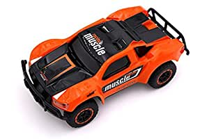 TAKUMI ミニ高速ラジコンカー ライト搭載 四輪駆動 初心者 子供向け 14.5x8x5.5cm オレンジ
