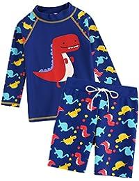 [Vaenait Baby] 2-7歳UVカット ラッシュガードベビー子供男の子長袖上下セット水着