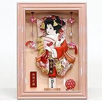 羽子板 コンパクト 壁掛け 額飾り 京彩 パールピンク つるし付き 8号 羽子板飾り 初正月 HGBK-30M-6