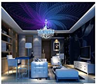 3D壁紙 壁画 天井用シルククロス 抽象的な回転曲線の輝くファッションシーリング Zenith Mural Ayzr SFGSG465522