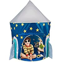 Kidsテント、halofun Rocket Ship Play Tent for Kids with Glow in the Dark星、Convenientlyの折り曲げto a Carrying Case forインドア&アウトドア使用