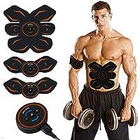 EMS 腹筋ベルト 筋トレマシン ダイエット器具 腹筋トレーニング 腹筋 腕筋 筋トレ器具10段階強度 6つモード USB充電式腹筋器具 男女兼用 日本語説明書付き