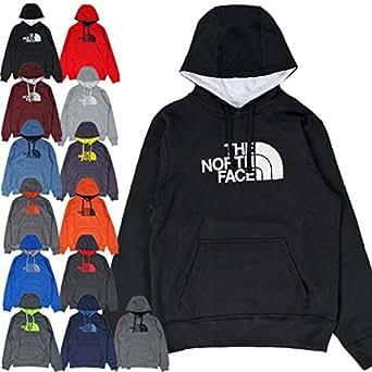 (ザ ノースフェイス) THE NORTH FACE / HALF DOME LOGO PULLOVER HOOD ハーフドーム ロゴ プルオーバーフード パーカー (M, グレー/パワーグリーン) [並行輸入品]