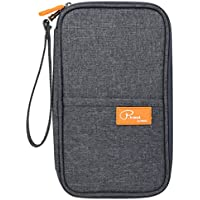NKTM Travel Passport Wallet,Family Passport Holder with Hand Strap