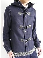 (モノマート) MONO-MART ウール メルトン ダッフルコート フルボリュームネック コート 起毛 アウター 暖かい デザイン メンズ