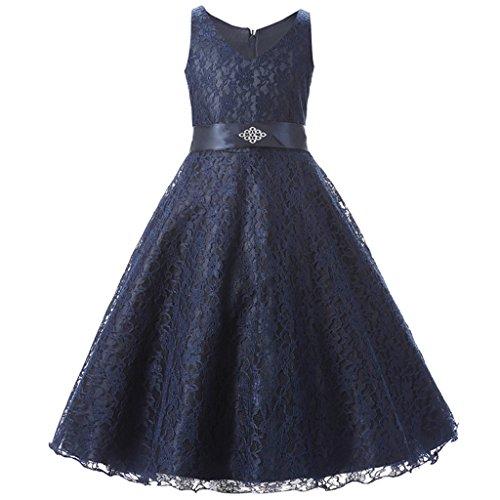 ファンタストコスチューム こどもドレス ワンピース スパンコール ガールズ ネイビーブルー 140cm