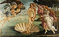 Birth of Venus , 1486Sandro Botticelli fineアート複製Rolledキャンバスプリント36x 24in。
