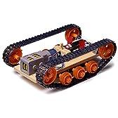 【 タンク工作基本セット 】 タミヤ 楽しい工作シリーズ TK108/ モーターと電池で走るキャタピラ車の工作です
