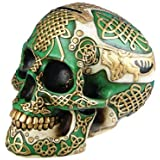 Figurine Celtic Lion Skull Bank Hand Painted Resin 6411 by DLEG