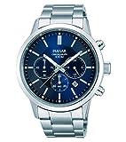 [セイコー パルサー]SEIKO PULSAR 100m防水 クロノグラフ メンズ 腕時計 ブルー PT3741 [並行輸入品]