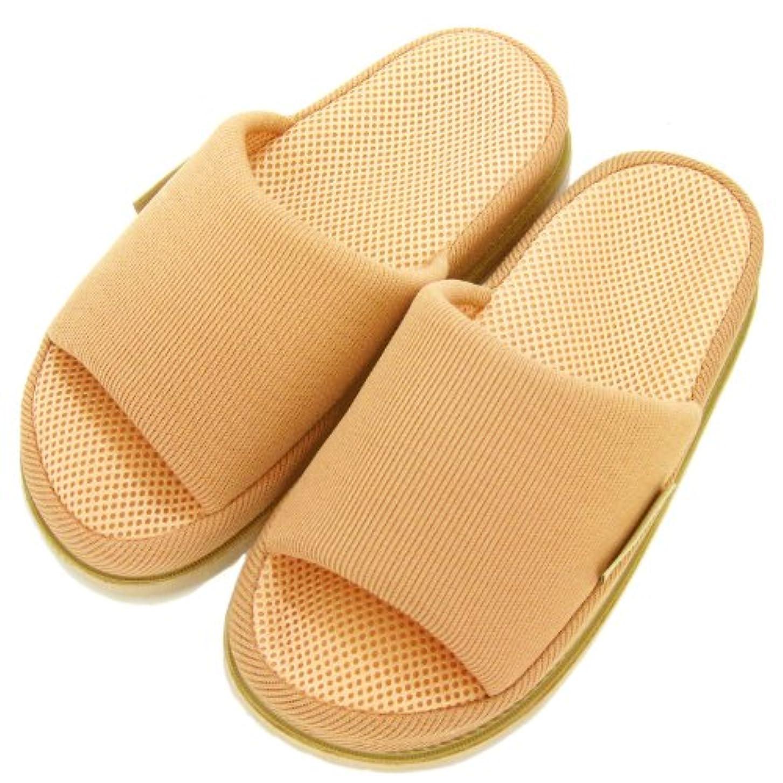 する寝具近傍足で癒す リフレクソロジースリッパ リフレ 指の付け根 ベージュ M