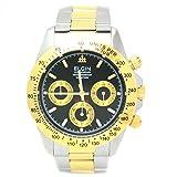 [エルジン]ELGIN 腕時計 クロノグラフ 日本製ムーブメント ウォッチ ホワイトxゴールド FK1059TG-B メンズ