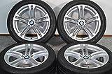 【中古】【タイヤ付きホイール 18インチ】BMW F10/F11 5シリーズ Mスポーツ 後期 ダブルスポークスタイリング613M 純正 18in【U0312Z70YT4-KP4】