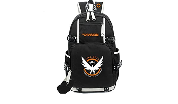 09af869d999f Amazon | Cosplayrim ディビジョン コスプレ バックパック The Division リュックサック グッズ キャンバス ブラック  通常用 学生用 変装 仮装 クリスマス ハロウィン ...