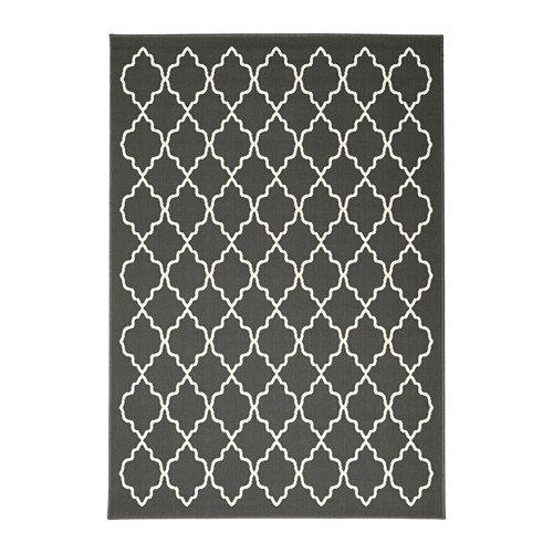 IKEA(イケア) HOVSLUND ラグ パイル短, ダークグレー (40307480)