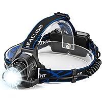 YIEASY LED ヘッドライト 充電式 電池付属 青