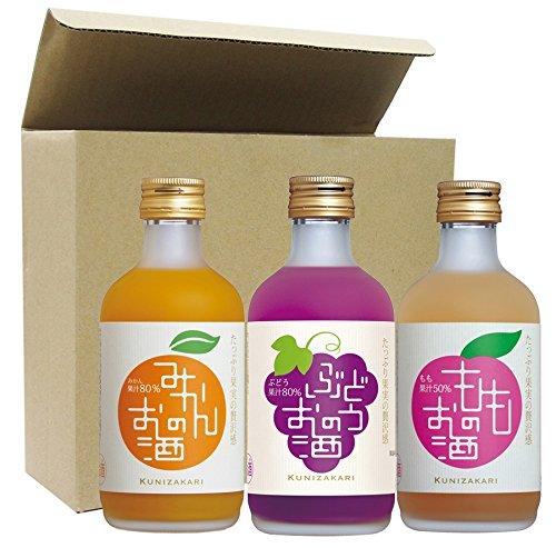 中埜酒造 果汁リッチのお酒(みかん ぶどう もも) 飲み比べセット 300ml×3本