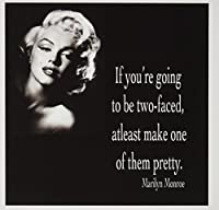 ToryAnneコレクション引用–If you ' re Going to Be two-faced , Atleast Make One of Them Pretty、マリリン・モンローQuote–グリーティングカード Set of 6 Greeting Cards
