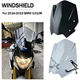 FATExpress Windscreen for BMW G310R Motorcycle New Generation Sport Racing Touring Windshield Airflow Wind Deflectors Fly Screen 2016 2017 2018 2019 G310 G 310 R Accessories (Light Smoke)