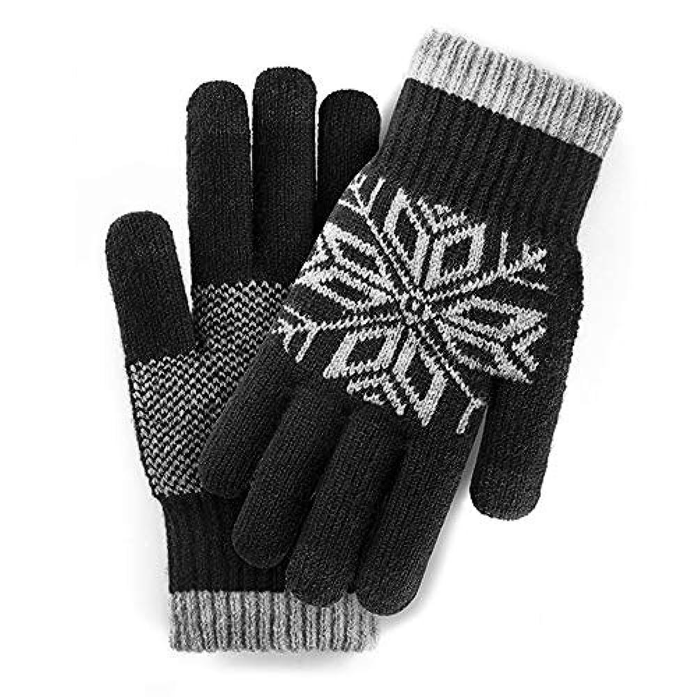 曲がったセッティング悔い改めGLJJQMY 手袋のタッチスクリーンのウールの男性と女性の冬暖かいプラス厚いビロードアウトドアドライビングライディング手袋 グローブ (色 : ブラック)
