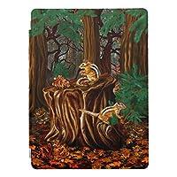 森林のシマリス iPad mini4 ケース タブレットケース アイパッドミニ4 背面ケース スタンド機能 iPad mini 4 ソフトケース TPUケースiPad mini4ケースかわいいipadmini4カバー