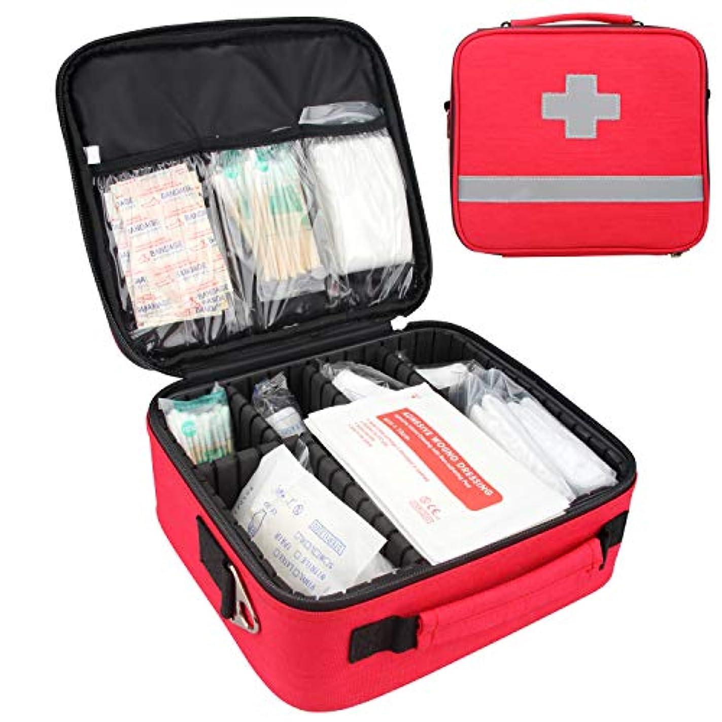 きちんとした慣れるソファー応急処置キット,プロフェッショナル 防水 プレミアム ナイロン 救急バッグ セパレーター付け