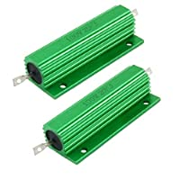 Amicoの100W 20Kオームグリーンアルミ収納された巻線型抵抗器2個