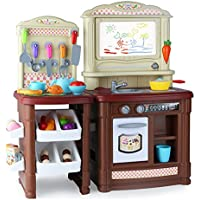 HJXDJP- 子供の ままごと遊び 多機能キッチンのおもちゃ 家族の料理ゲームをする ドローボード、食品、ポット、調理器具などを含む合計70個の付属品 (男の子)