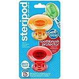 ステリポッド(2 パック?オレンジ&レッド) クリップオン歯ブラシ プロテクター