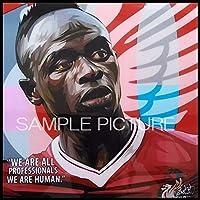 サディオ・マネ リバプールFC 海外サッカーグラフィックアートパネル 木製 壁掛け インテリア ポスター