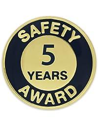 Pinmartのゴールドとネイビー5年安全審査エナメルラペルピン 5
