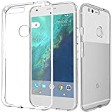 Google Pixel XL / Neuxs Marlin 用 クリスタルケース ソフトケース case 【Beyeah】 超薄 透明スケルトン 保護ケース カバー 透明