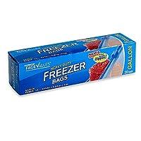 Harmon面値20-count 1ガロンHeavy Duty Freezer Bags with e-zスライドジッパー