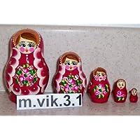 Russian Nesting Doll * 5 Pcs / 3 In - 8 cm (baby doll - 15mm) * vik.3.1