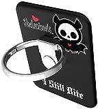 BUNKER RING Skelanimals (5 Character)バンカーリング  iPhone/iPad/iPod/Galaxy/Xperia/スマートフォン・タブレットPCを指1本で保持・落下防止・スタンド機能(Bat Black )