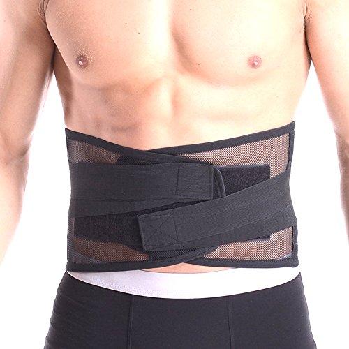 腰サポーター 腰ベルト コルセット 腰痛ベルト メッシュ素材 スポーツ 介護 男女兼用 L