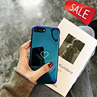 iPhoneケース iphone6/6S iPhone6plus/iPhone6Splus iPhone7 iPhone7plus iPhone8 iPhone8plus iPhoneX レーザーブルーレイ ソフトシェル オールインクルーシブ クリエイティブ ミニマリスト 保護ケース (Color : Blue, Size : IphoneX)