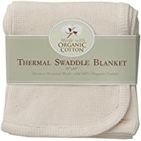 (White / Cream) - American Baby Company Organic Cotton Thermal Receiving Blanket