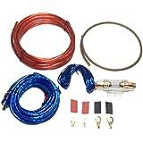 オーディオ パワー ケーブル 8ゲージ ハイパワー アンプ 配線 キット ウーハー 大音量 重低音