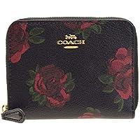 9615f6b2eaec (コーチ) COACH 財布 折財布 二つ折り ミニ コンパクト ラウンドファスナー フローラルプリント レザー
