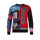 (ヴェルサーチ) Versace メンズ トップス ニット・セーター Patchwork wool sweater [並行輸入品]