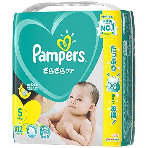 『パンパース テープ S(4~8kg) さらさらケア 102枚』のトップ画像