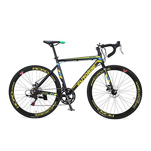 Kingttu XC760 自転車 ロードバイク シマノTZ 50 14 段変速 ロードバイク アルミフレーム700Cディスクブレーキ (きいろと黒い) [並行輸入品]