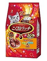 (まとめ買い)ペットライン キャネットチップ こく旨リッチ お魚&お肉グルメ 1.2kg(300g×4) 猫用 【×4】